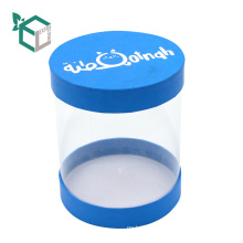 Blue PVC Window Gift Boxes For Paper Lid
