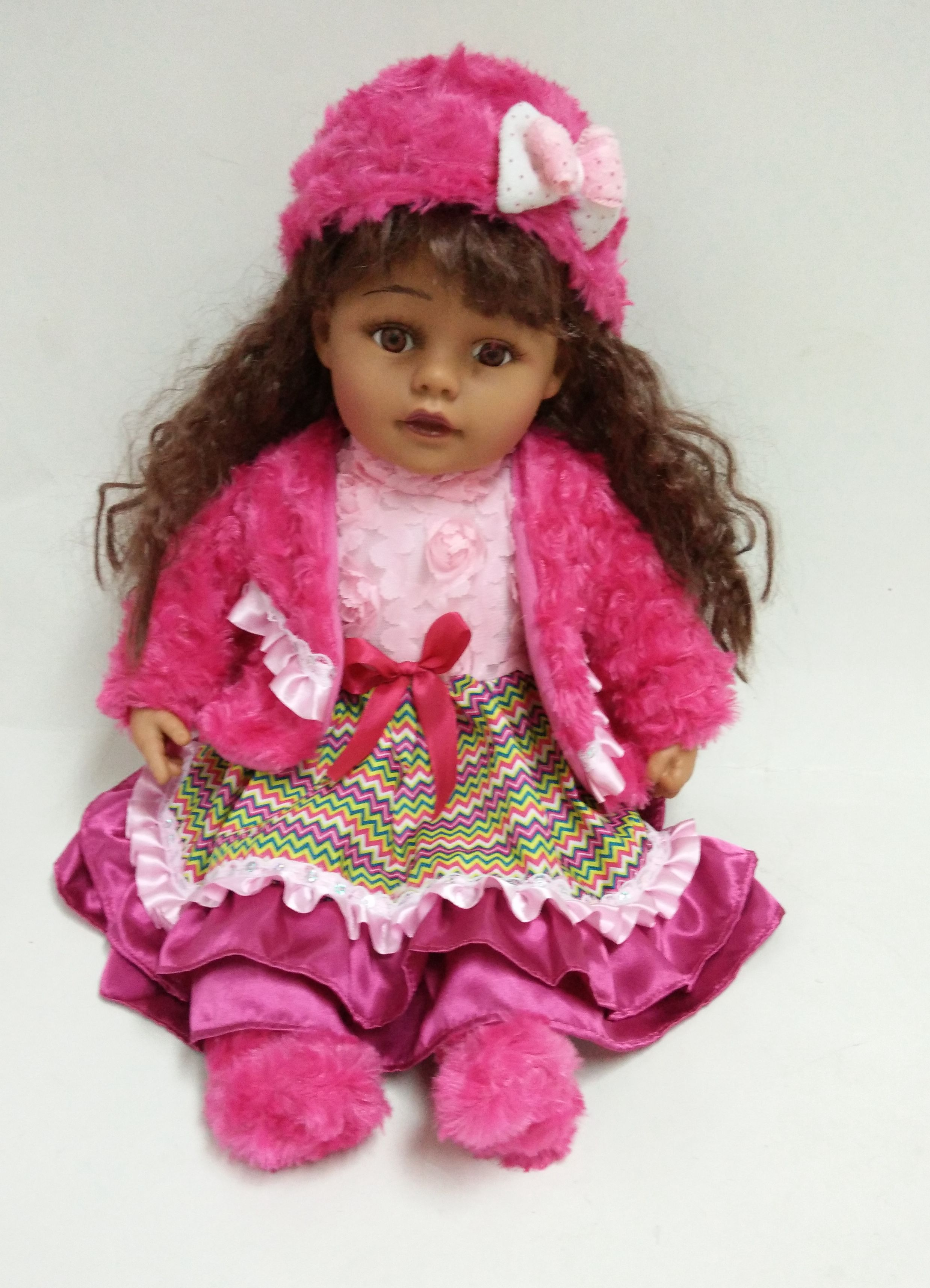Brown Curly Hair Doll
