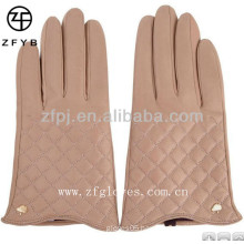 Fashion elegant warm goat skin lady's winter glove