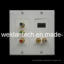 HDMI, 5RCA Component AV Wall Plate, Decorastyle