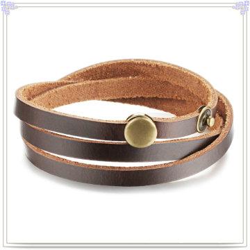 Acessórios de moda pulseira de couro jóias de couro (LB427)