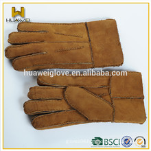 External Sewing Splicing Leather Winter Womens Leather Gloves with High Quality and Low Price