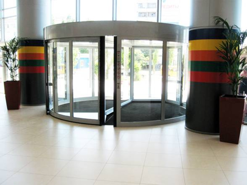 Two leaves Auto Revolving Door With CE