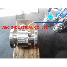 Two PCS Body Stainless Steel Float Ball Valve