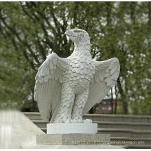 Décor de jardin animal Sculpture grandeur nature Sculpture d'aigle en pierre