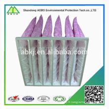 En gros sac recyclé filtre à air, filtre à air non tissé poche filtre sac F5 F6 F7 F8