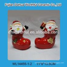 Ceramic christmas decoration santa claus design for LED