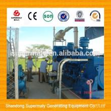 Puissance verte 10-1000KW faible consommation et installation sur place Générateur de biogaz