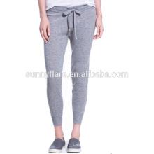Ventas al por mayor elegantes pantalones de cachemira de color gris