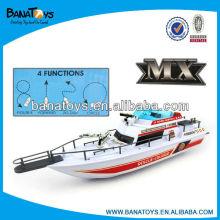 Excitante 4 funções barco elétrico para criança