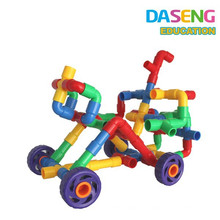 Aprendizaje educativo de plástico de juguete de bloqueo de bloques de tubos de construcción de tubos para niños