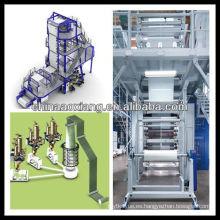máquina de soplado de película de doble tornillo mono-die de plástico de fabricación mashines ax-60 (70)