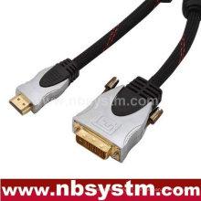 Câble DVI à HDMI de vente chaude Nouveau câble générique HDMI à DVI