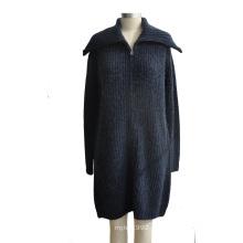 Morno Merino Lã Blended Cardigan Knitwear com botão