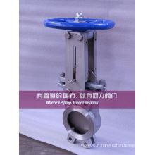 Vanne à guillotine à basse pression avec tige non montante