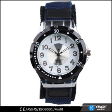 Rotation de lunette vogue sport quartz montre nylon, quartz watch company