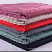 Factory price ladies winter shawl cashmere feeling thick warm scarf with rhinestone tassel scarf