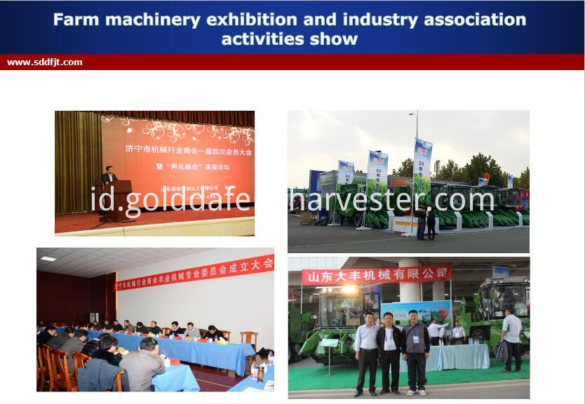 Farm machinery crawler type rice harvester price philippines -exhibition