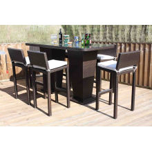 Rattan Bar Stool Set Patio Outdoor Garden Wicker Furniture