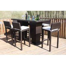 Ротанга бар стул набор патио Сад Открытый плетеная мебель