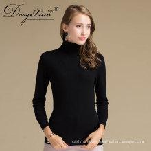Suéter hecho punto plano del color negro del OEM del mongol, suéter llano del jersey en Alibaba Venta