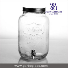8L Clear Big Glass Juice Dispenser with Faucet