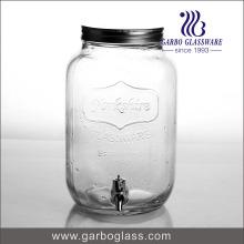 8L claro dispensador de jugo de vidrio grande con grifo