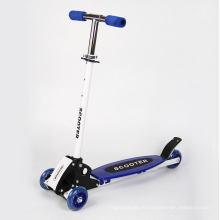 Новый складной 3 мигающий колеса самокат детей Регулируемый на 3-8 лет
