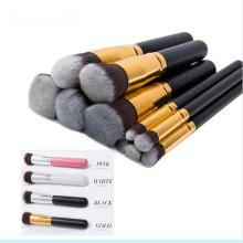 Professional Soft 10PCS Synthetic Powder Foundation Eyeshadow Brushes