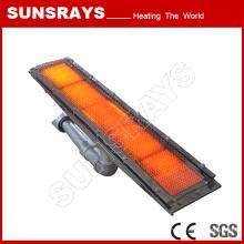 Calentador de gas infrarrojo para secado de papel de la máquina