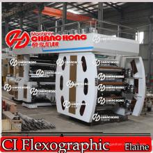 6 Colorsroll para rolo máquina de impressão Flexo tecida