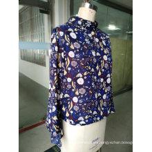 Blusa estampada de manga larga de hadas para mujer