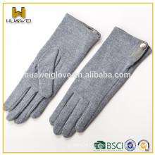 Simple style women cheap wool winter gloves