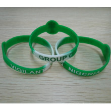 Custom-Made Color Printed Logo Silicone Wristband