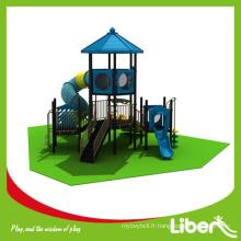 Matériel LLDPE Large Plastic Slide Type Aire de jeux extérieure pour enfants, enfants aire de jeux en plastique extérieure