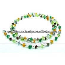 Chaînes à perles en argent sterling 925, chaînes à perles de pierres précieuses