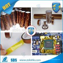 Ruban auto-adhésif Ruban polyimide Film à haute température dans l'industrie en utilisant
