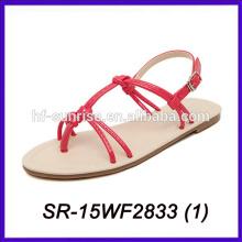 Porzellan Großhandel Sandalen flache Sandalen für Damen Bilder neuesten Damen Sandalen Designs