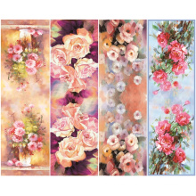 Winter Hot Sale Big Flower Printed Woman Silk Scarf (C-023)
