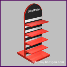 Double Iron Display Shelf for Specialty Store (slat wall)