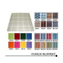 Polar Fleece Square and Check Design Blanket