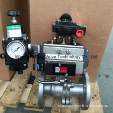 Stainless Steel/Wcb Pneumatic Actuator Ball Valve