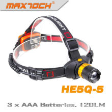 Maxtoch HE5Q-5 120 Lumens AAA Battery Zoom Hunting Led Headlight