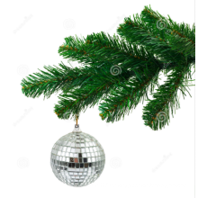 Colorful christmas decoration hanging disco mirror ball