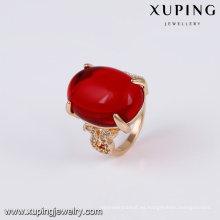 14740 xuping joyería 18k chapado en oro moda nuevo anillo de oro elegante anillo de dedo para mujer