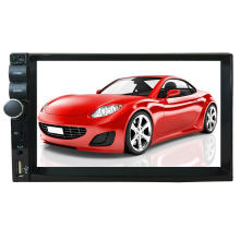 Double DIN 2DIN Universal Car Radio MP5 Player with Bluetooth Steering Wheel Control, Reverse Camera Video Input, 7 Color Button Light, HD 1080P Supported