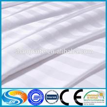 250TC 40*40S 140GSM satin stripe Bed Sheet Set 100% cotton Bedding Set