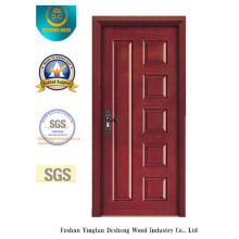 Puerta moderna del estilo MDF con madera sólida para la entrada (xcl-858)