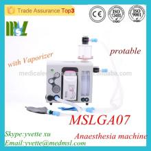 MSLGA07 Protable medizinische Ventilator Maschine mit Vaporizer Best Anästhesie Ventilator in China