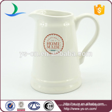 Wholesale modern style decal stoneware jug